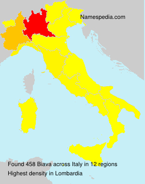 Surname Biava in Italy