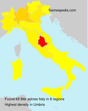 Surname Bibi in Italy