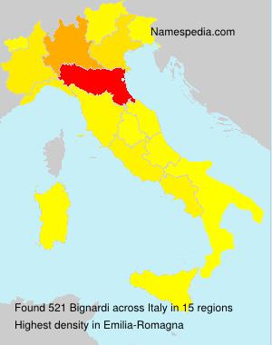 Surname Bignardi in Italy