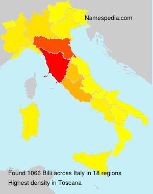Surname Billi in Italy
