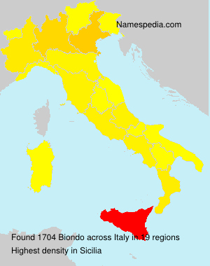 Surname Biondo in Italy