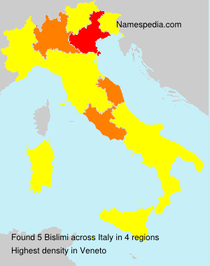 Surname Bislimi in Italy