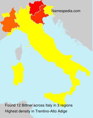 Surname Bittner in Italy
