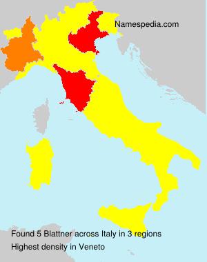 Familiennamen Blattner - Italy