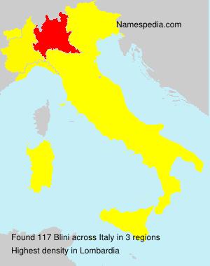 Surname Blini in Italy
