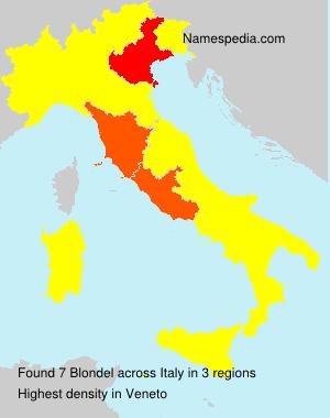 Surname Blondel in Italy