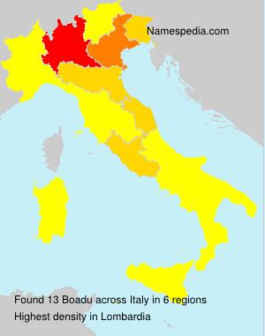 Surname Boadu in Italy