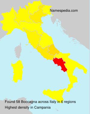 Familiennamen Boccagna - Italy