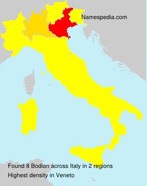 Surname Bodian in Italy