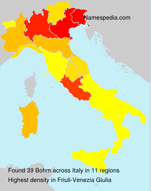 Surname Bohm in Italy