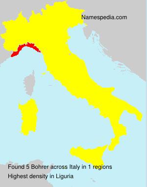 Surname Bohrer in Italy
