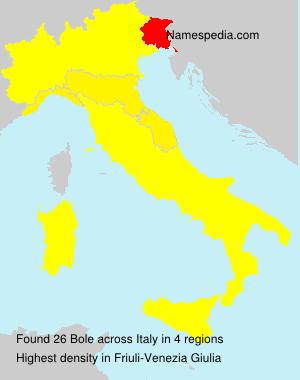 Familiennamen Bole - Italy