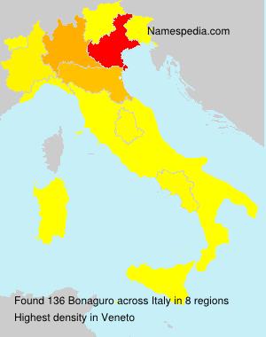 Surname Bonaguro in Italy
