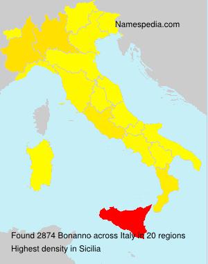 Surname Bonanno in Italy