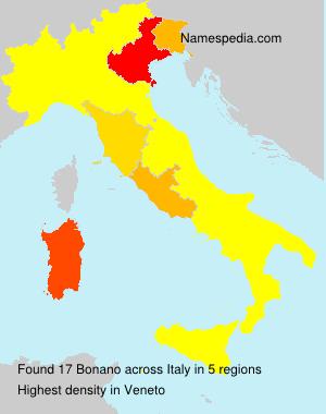 Surname Bonano in Italy