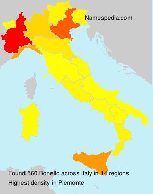 Surname Bonello in Italy