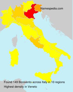 Surname Bonivento in Italy
