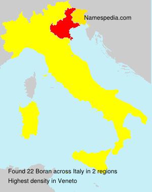 Surname Boran in Italy