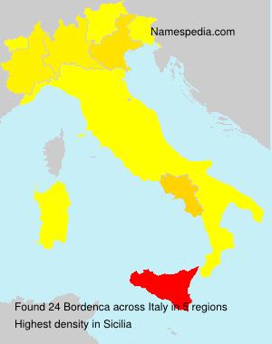 Surname Bordenca in Italy