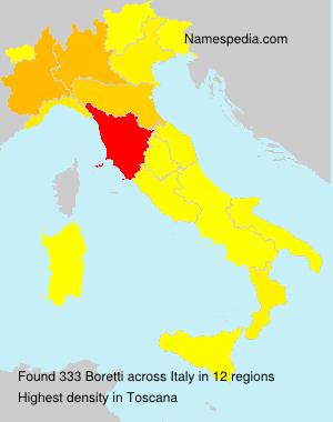 Surname Boretti in Italy