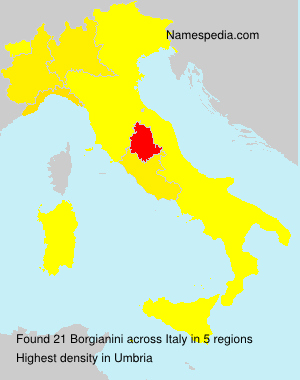 Surname Borgianini in Italy