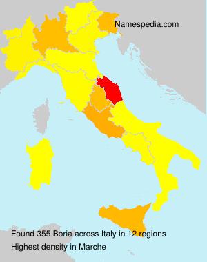 Surname Boria in Italy