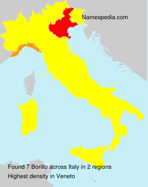 Surname Borillo in Italy