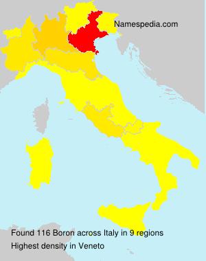 Familiennamen Boron - Italy