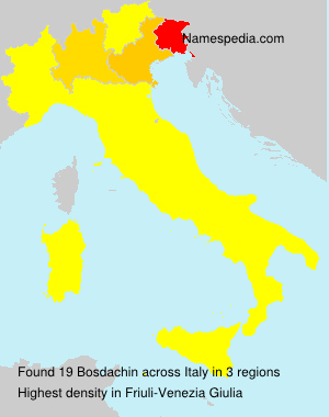 Surname Bosdachin in Italy