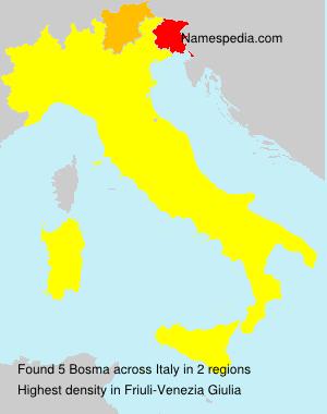 Surname Bosma in Italy