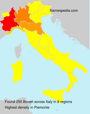 Surname Boveri in Italy