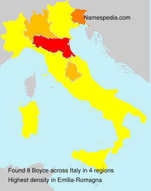 Surname Boyce in Italy