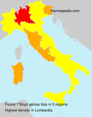 Surname Boyd in Italy