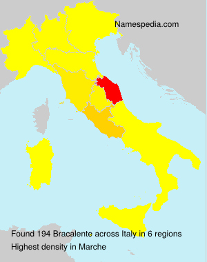Surname Bracalente in Italy