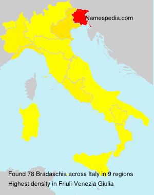 Surname Bradaschia in Italy