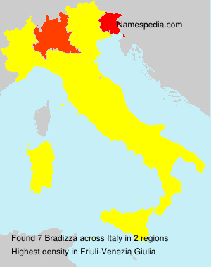 Surname Bradizza in Italy
