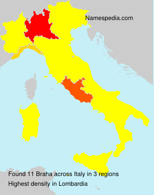 Surname Braha in Italy