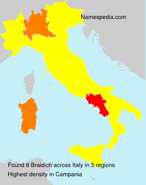 Surname Braidich in Italy