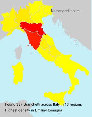 Surname Branchetti in Italy