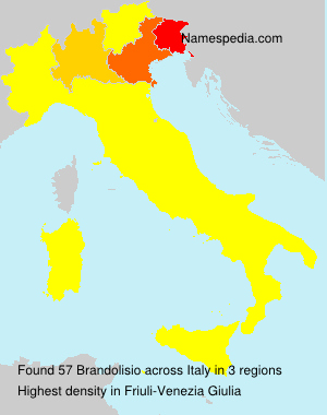 Familiennamen Brandolisio - Italy