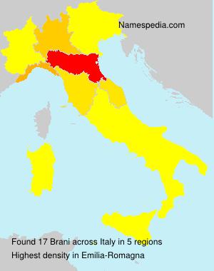 Surname Brani in Italy