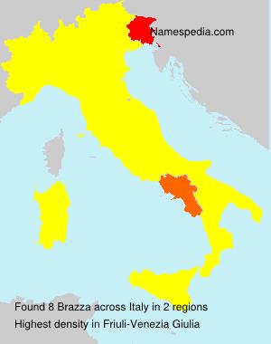 Surname Brazza in Italy