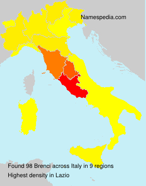 Surname Brenci in Italy