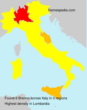 Surname Brenno in Italy