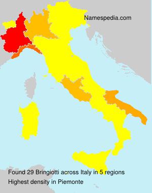 Surname Bringiotti in Italy