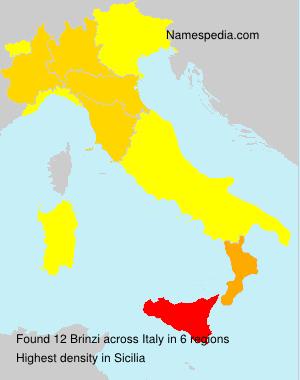 Surname Brinzi in Italy