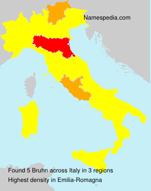 Surname Bruhn in Italy