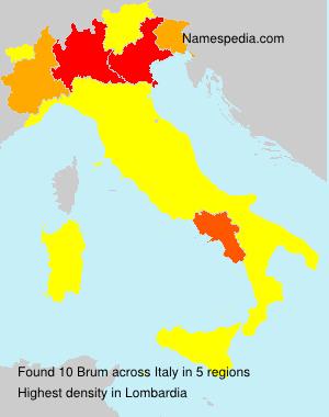 Familiennamen Brum - Italy