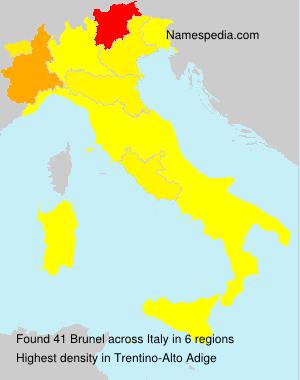 Familiennamen Brunel - Italy