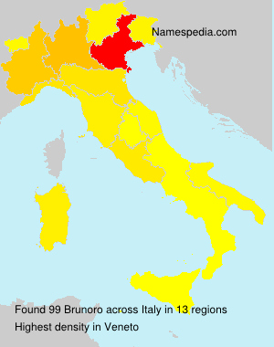 Surname Brunoro in Italy